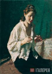 Isupov Alexei. Portrait of a Woman in a White Blouse. 1935