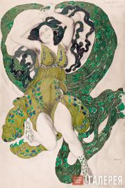 """Leon BAKST. Costume of a Nymph from the """"Narcissus ballet"""". 1911"""