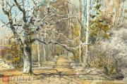 Polenova Yelena. An Alley in Early Spring. 1885-1889