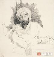 Виноградов Сергей. Левитан в одежде бедуина. 1889