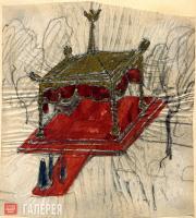 Sketch of ciborium (baldachin) for the foundation stone ceremony in Tsarskoye Se
