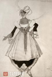Léon BAKST. Sketch of a costume of Countess Natalya Gorchakova