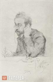Ilya REPIN (?). Portrait of the Writer Ivan Leontiev (Shcheglov). 1890 (?)