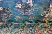 М.А.ВРУБЕЛЬ. Декоративный мотив с белыми лилиями. 1890-е