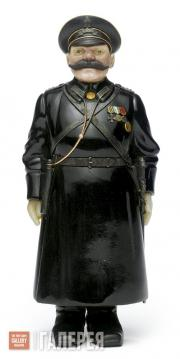 Мастерская Фаберже. Резная каменная фигурка городового. Около 1910