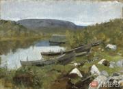 Korovin Konstantin. St. Tryphon's Brook in Pechenga. Lapland. 1894