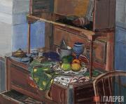 Rusanov Viktor. Still-life with a Blue Wine Glass. 2014