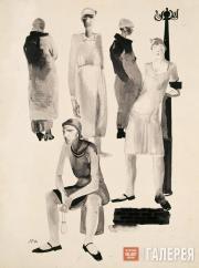 Deineka Alexander. Jobless in the Capitalist World. 1929