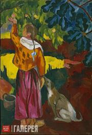 Н.С. Гончарова. Сбор плодов. 1908