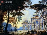 Andrei ROLLER. The Gardens of Chernomor. 1842