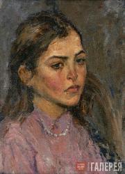 Alexander Sukhanov. Portrait of a girl. 1942-1943