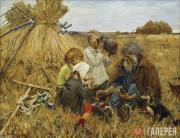 Plastov Arkady. Harvesting. 1945