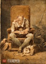 Zichy Mihály. Old Man Reading (Night). 1867