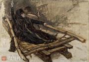 "Surikov Vasily. Study for the painting ""Boyarina Morozova"". 1884"