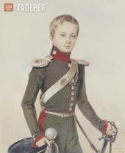 Sokolov Pyotr. Portrait of Grand Prince Alexander Nikolaevich. 1828