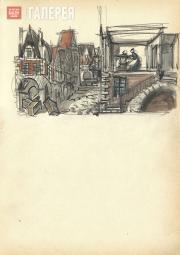 Щусев Алексей. Домик Генриэтты. Картина V,  действие III. 1926–1927