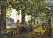 Щедрин Сильвестр Феодосиевич. Веранда, обвитая виноградом. 1828