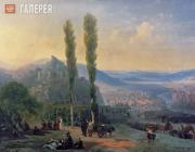 Aivazovskiy Ivan. View of Tiflis. 1869