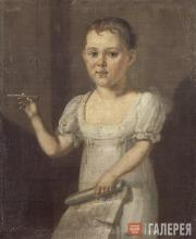 Unknown artist. Lermontov as a Child. 1810s