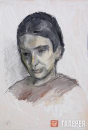 Falk Robert. Portrait of Angelina Shchekin-Krotova. 1951
