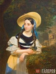 Karl Briullov. Portrait of Italian Singer Fanni Persiani. 1834