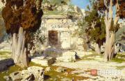 Polenov Vasily. Al-Haram ash-Sharif [Noble Sanctuary]. A Detail of the Courtyard
