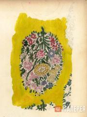 Цветочный  орнамент. Фрагмент