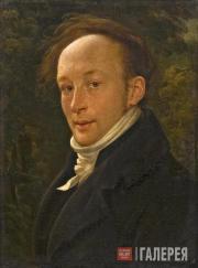 Александр Варнек. Автопортрет, освещенный сзади. 1816