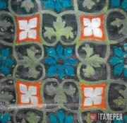 Л.С.Бакст. Эскиз росписи ткани. Начало 1920-х