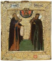 Неизвестный художник. Преподобные Димитрий и Игнатий. Последняя треть ХVII в.