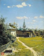 Polenov Vasily. A Moscow Courtyard. 1877. First version