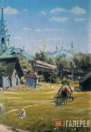 Polenov Vasily. A Moscow Courtyard. Detail