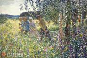 Plastov Arkady. Haymaking. 1945