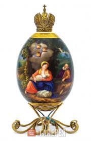 Яйцо пасхальное «Отдых Святого Семейства на пути в Египет»