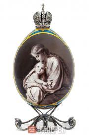 Яйцо пасхальное «Мадонна с Младенцем»
