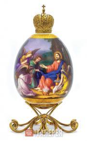 Яйцо пасхальное «Христос в пустыне (И ангелы служили Ему)»