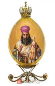 Яйцо пасхальное «Святой Алексей, митрополит Московский и всея Руси»