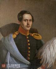 Unknown artist. Portrait of Mikhail Lermontov. 1838-1839