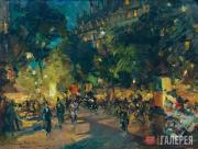 Korovin Konstantin. Paris. Boulevard des Capucines. 1902