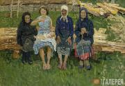 Tkachev Alexei. Four Women. 1960