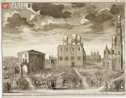 Sokolov Ivan. No 30. View of the Dormition Cathedral and the Cathedral Square. 1