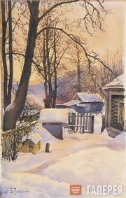 Polenova Yelena. Outside in Winter. 1885