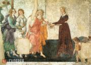 Боттичелли Сандро. Венера и три Грации преподносят подарки девушке. Флоренция. 1