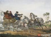 Unknown artist. Troika. 1825