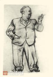 Unknown artist. Caricature of Vladimir Serov. [1943]