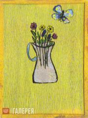 Кандинская Нина. Ваза с цветами. 1918