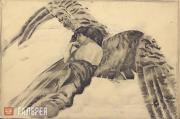 М.Врубель. Демон летящий. Иллюстрация к поэме М.Ю. Лермонтова «Демон». 1890–1891