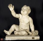 Неизвестный художник. Путто (Обнаженный мальчик) с гусем. Середина 1 века н.э.