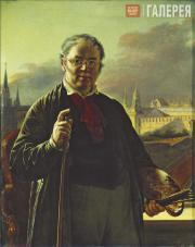Tropinin Vasily. Self-Portrait at a Window with a View of the Kremlin. 1846