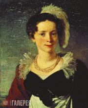 Tropinin Vasily. Portrait of Countess Natalia Chernyshova. c. 1816-1818